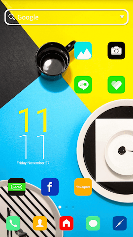 android POP Color LINE Launcher theme Screenshot 0