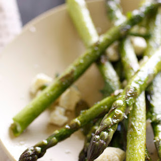 Grilled Asparagus with Mint and Feta.