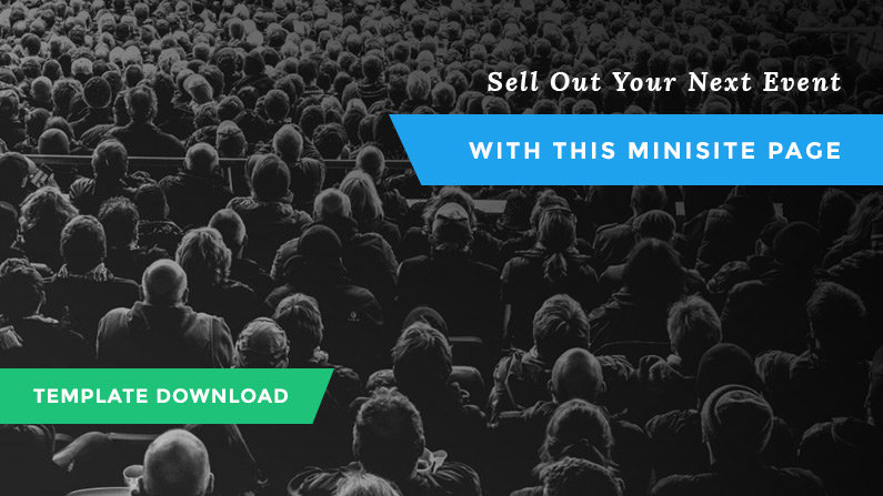 Sell Out Your Next Event with This New Event Page Design