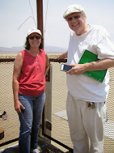Photo: Dave Dunlop and myself on the Vertical Test stand for static motor tests.