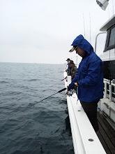 Photo: さあー!バタバタして出航しました、午後の部スタート!・・・雨が降ってます。