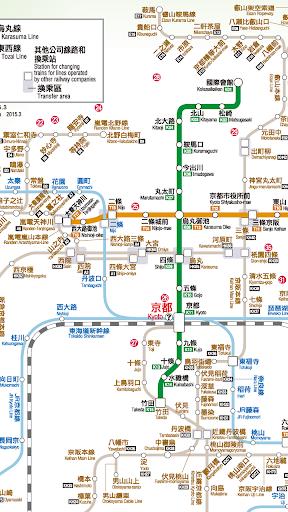 京都地鐵路線圖