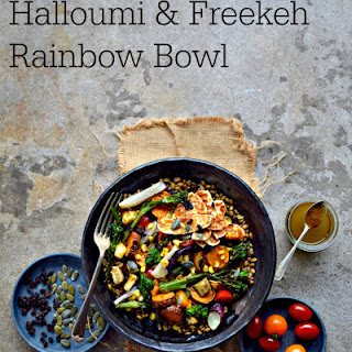 Halloumi and Freekeh Roasted Rainbow Bowl