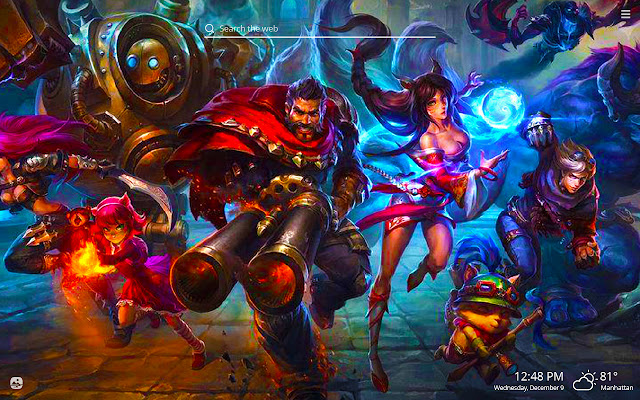League of Legends HD Wallpapers New Tab Theme