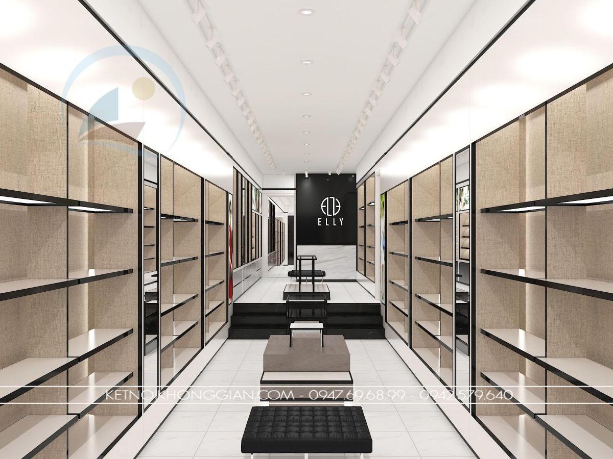 thiết kế cửa hàng túi xách thời trang Elly 2