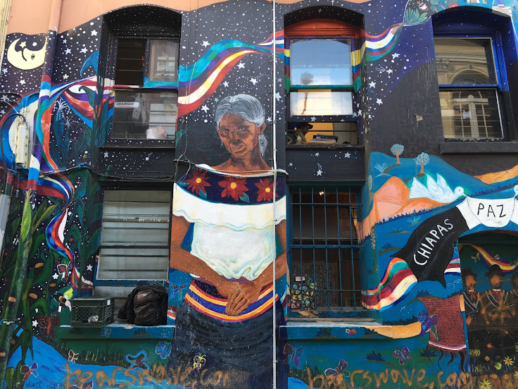 The Taniperla Mural in Jack Kerouac Alley.
