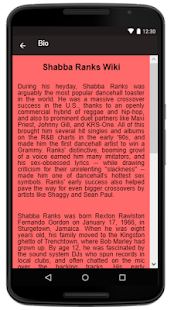 Shabba Ranks Songs+Lyrics - náhled