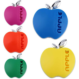 Set 3 x Odorizant de masina in forma de mar, Apple Air Freshener