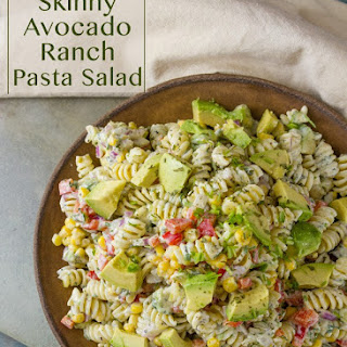 Skinny Avocado Ranch Pasta Salad Recipe