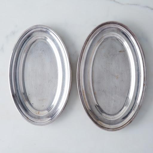 Vintage French Hotel Silver Platter