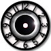 Black Clock Widget icon