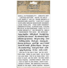Tim Holtz Idea-Ology Remnant Rubs Rub-Ons - Tiny Text