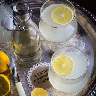 Citrus Rosemary Vodka Spritzer.