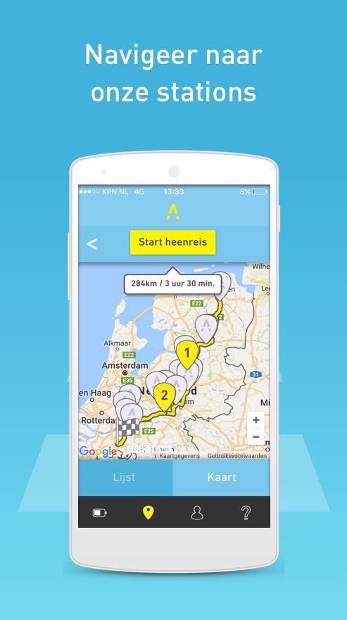 Fastned: screenshot