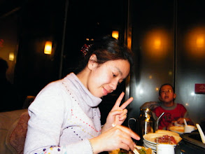 Photo: baby son, warrenzh 朱楚甲's works: mom enjoying buffet in early spring 2011.