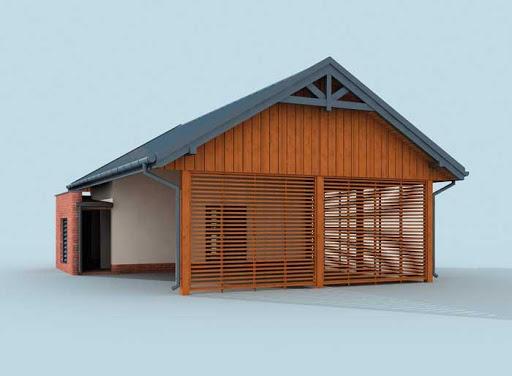 projekt G275 wiata garażowa
