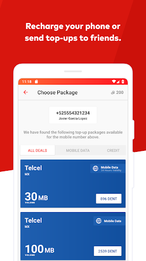 DENT - Send mobile data top-up 2.0.2 screenshots 2