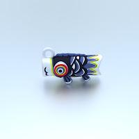 鯉のぼりストラップ飾り(黒)