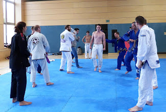 Photo: The gauntlet BJJ belt whipping ceremony!