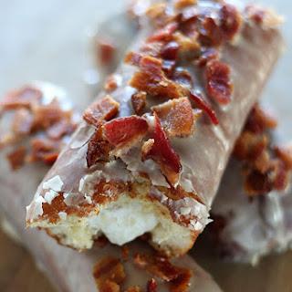 Maple Bacon Bars with Bourbon Cream Filling
