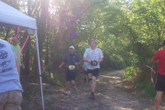 Photo: Approaching 2nd aid station.  92 miles to go.