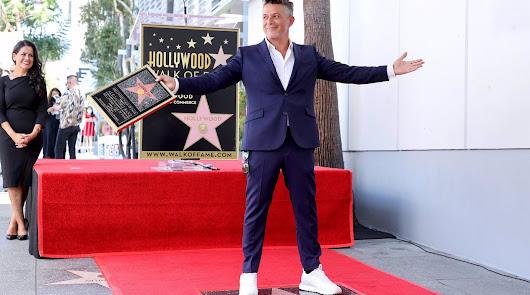 Alejandro Sanz consigue una estrella en el Paseo de la Fama de Hollywood