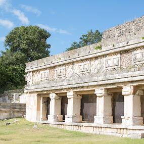 Uxmal Mayan Pillars by Pilar Gonzalez - Buildings & Architecture Public & Historical ( mayan architecture, historical sites, mayan ruins, unesco world heritage, pillars,  )
