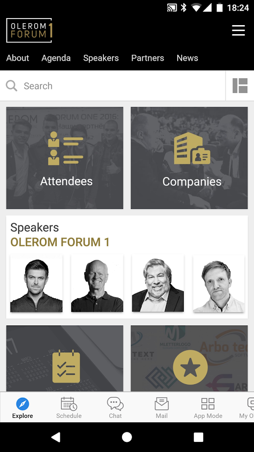 OLEROM FORUM 1 Conference- screenshot