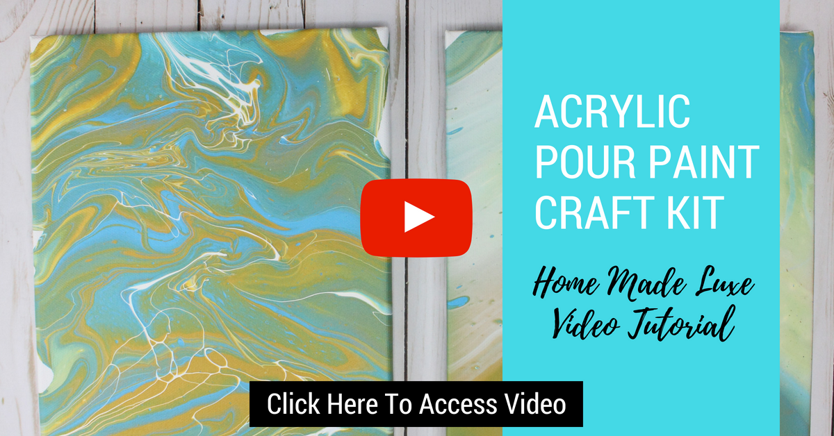 Click here to access acrylic pour paint diy craft
