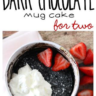Flourless Dark Chocolate Mug Cake for Two.