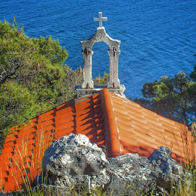 Nature first... by Milena Radić - Buildings & Architecture Places of Worship ( relaxing, forrest, chapel, sea, religion,  )
