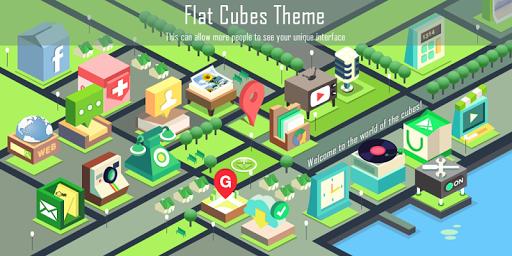 Flat Cubes Theme