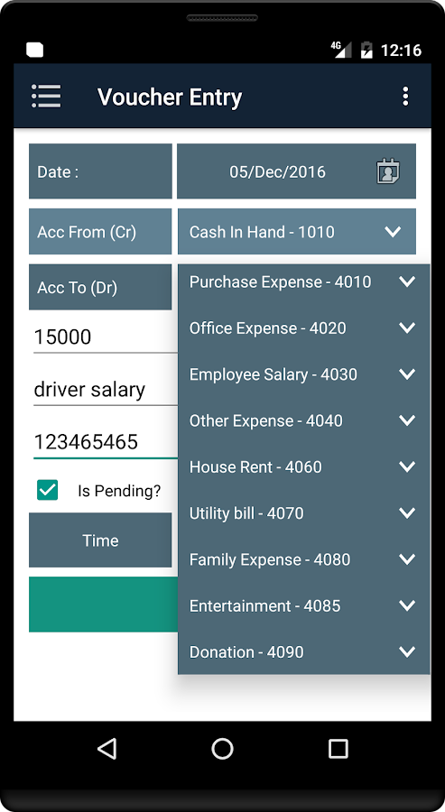 CashBin - Mobile Accounts- screenshot