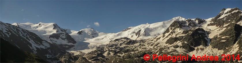 Photo: Panorama 1 parte delle 13 cime salendo al Pizzini