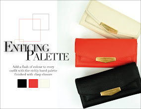 Photo: Add a flash of colour to every outfit with the richly huded palette finished with clasp closure  Enticing Palette | CK2-10700013 | USD36.00 Available in Black, Navy, Brown, Beige, Cream Prices may vary  Visit your nearest store or CharlesKeith.com to find out more.