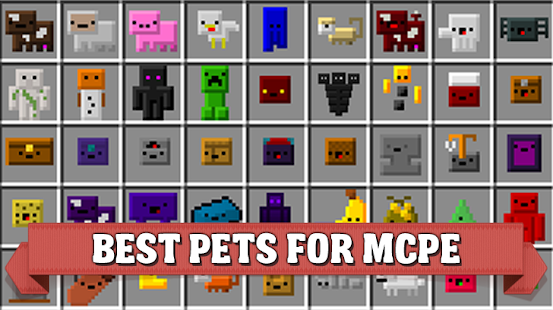 Inventory Pets mod for Minecraft - náhled
