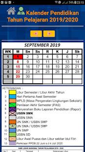 Kalender pendidikan 2019/2020 untuk SD, SMP & SMA - náhled