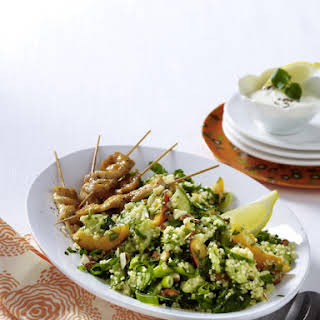 Chicken Skewers with Apricot and Herb Couscous.