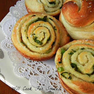 Chive Garlic and Herb Rolls.