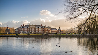 Photo: #November at #Nordkirchen #palace in the #German #Muensterland , so called the #Westfaelisches #Versaillles  - November am #Schloss Nordkirchen im #Münsterland dem #WestfälischenVersailles  - #Park #See #Lake #Sky #Himmel #Historisch #historic