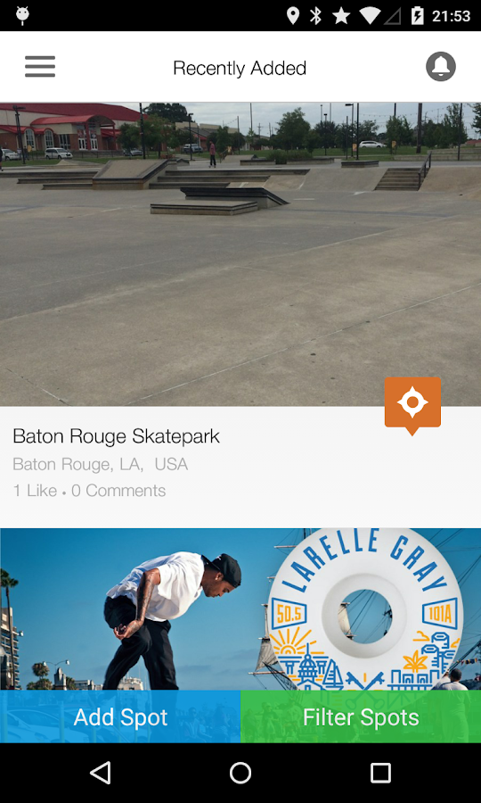 SkateSpots - screenshot