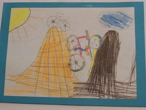 """Photo: wyróżnienie : praca Agaty : """" Jeździmy rowerem bo ... jest ciekawie ! """""""