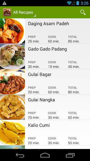 Resep Masakan Padang Pilihan