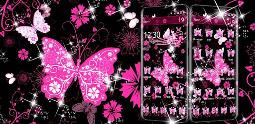 Pink Black Butterfly Theme By Best Cool Theme Dreamer