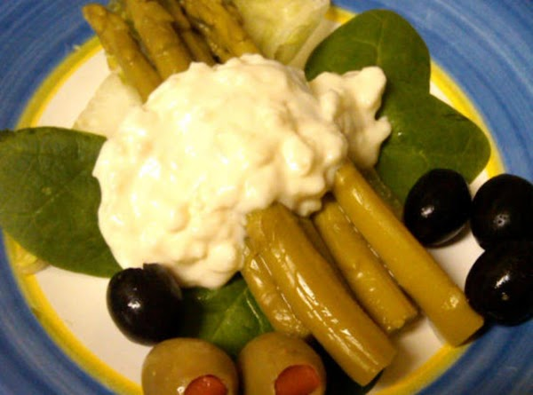 Serving suggestion: Arrange drained asparagus spears on lettuce leaves & drizzle the dressing over...