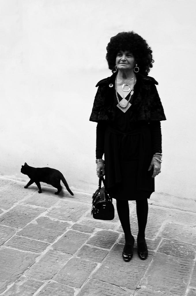 Signora con gatto di ilciclonelatino