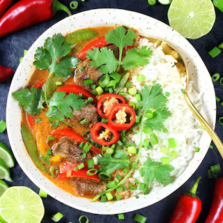 Instant Pot Beef Thai Red Curry.