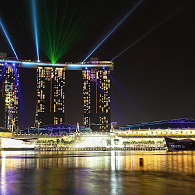 Marina Bay Sands, Singapore by Ellen Foulds - Travel Locations Landmarks ( pwclandmarks, marina bay sands, architecture, landscape, nightscape )