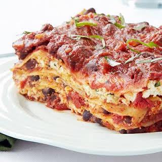 Cheeseless Black Bean Lasagna.
