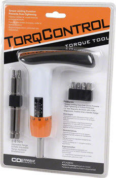 CDI TorqControl Wrench: Adjustable Torque Limiting L-Handle 2-8Nm White alternate image 0